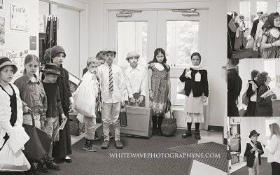 NH Children's Photographer   Newfields Elementary School Immigration Simulation