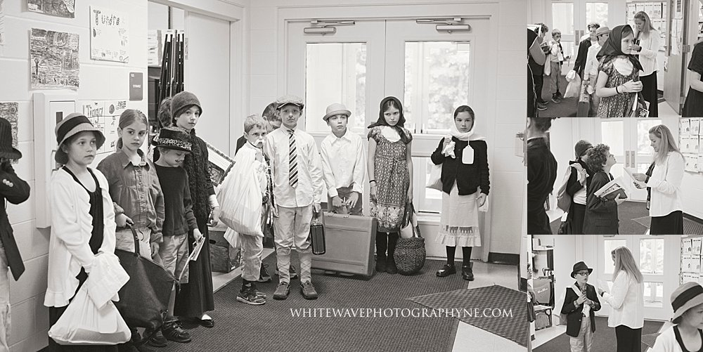 NH Children's Photographer | Newfields Elementary School Immigration Simulation