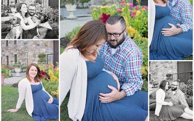 NH Seacoast Maternity and Birth Photographer | Austin's Maternity Session at Winnekenni Castle