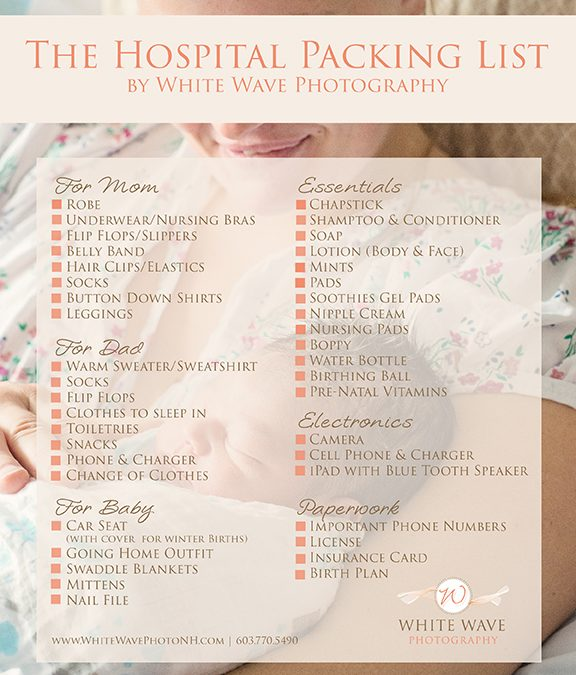 NH Birth Photographer | What to Pack for a Hospital Birth