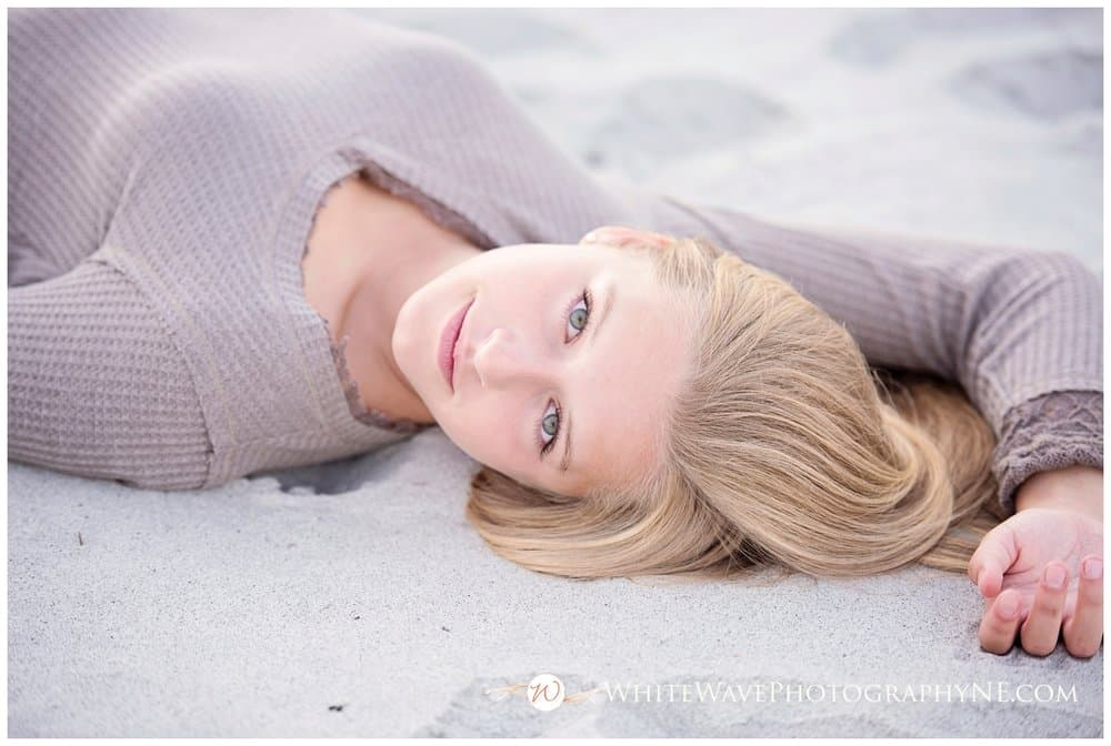 Exeter High School Senior Portraits | Sunset Beach Session with Teagan