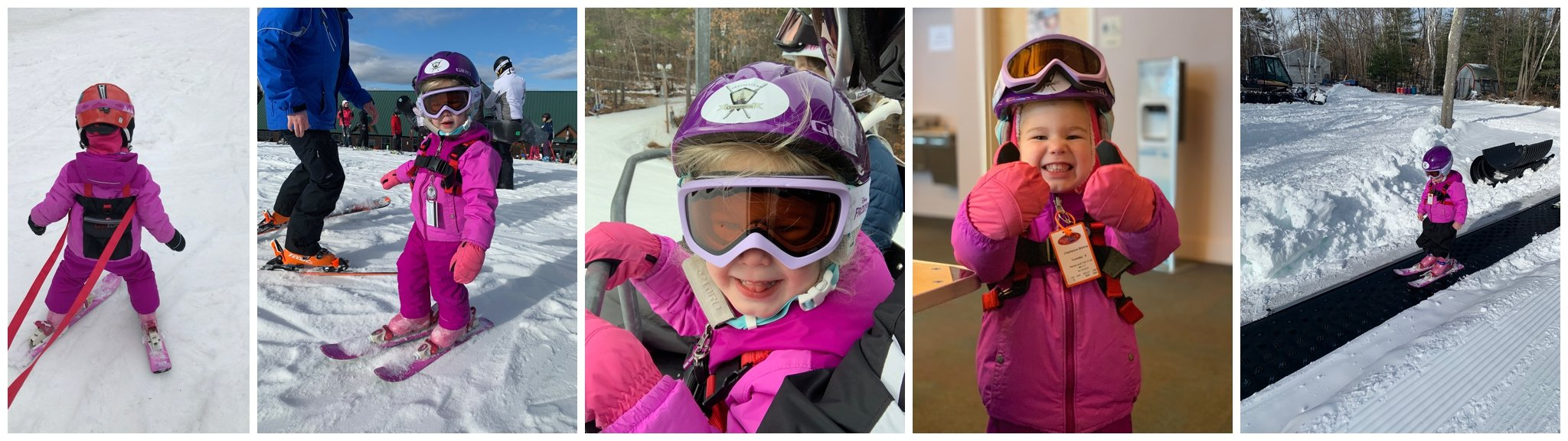 how to ski with young children