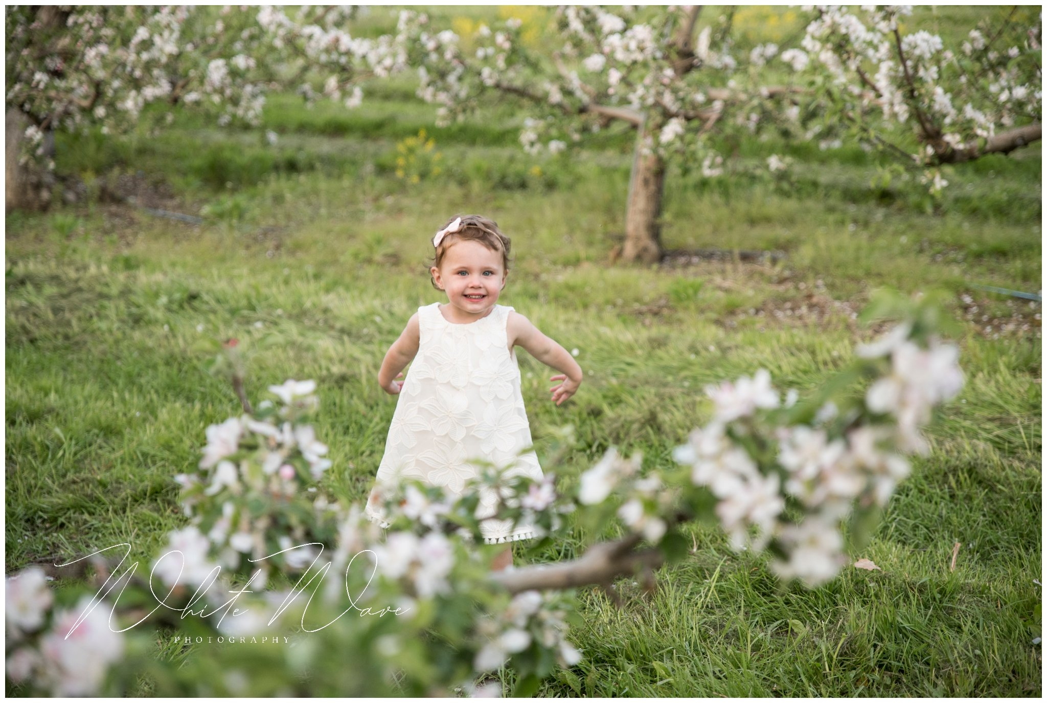 One sweet little girl during this outdoor family portrait session