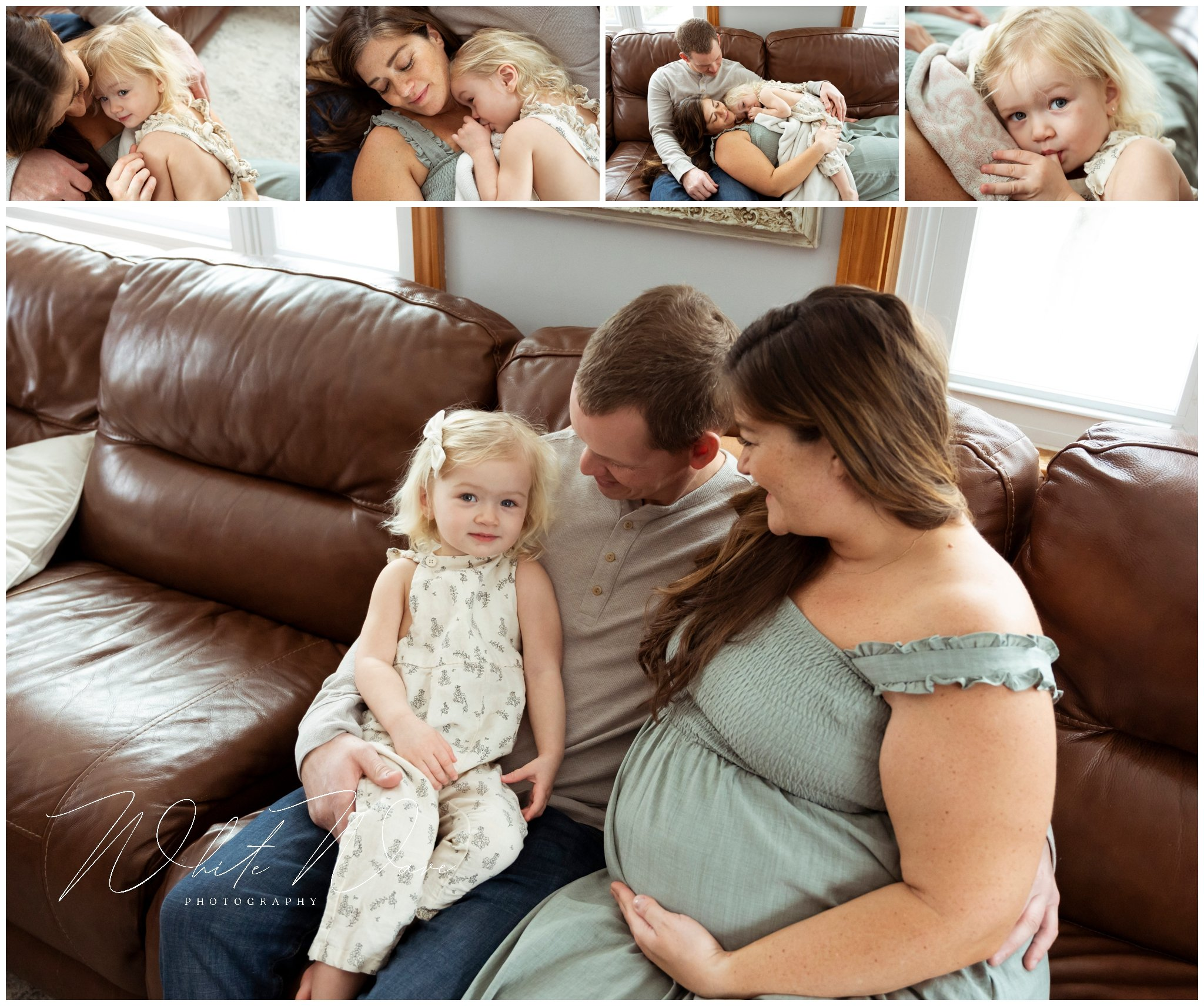 NH Maternity Photographer, White Wave Photography, tells the story of Kayla's at home maternity session.