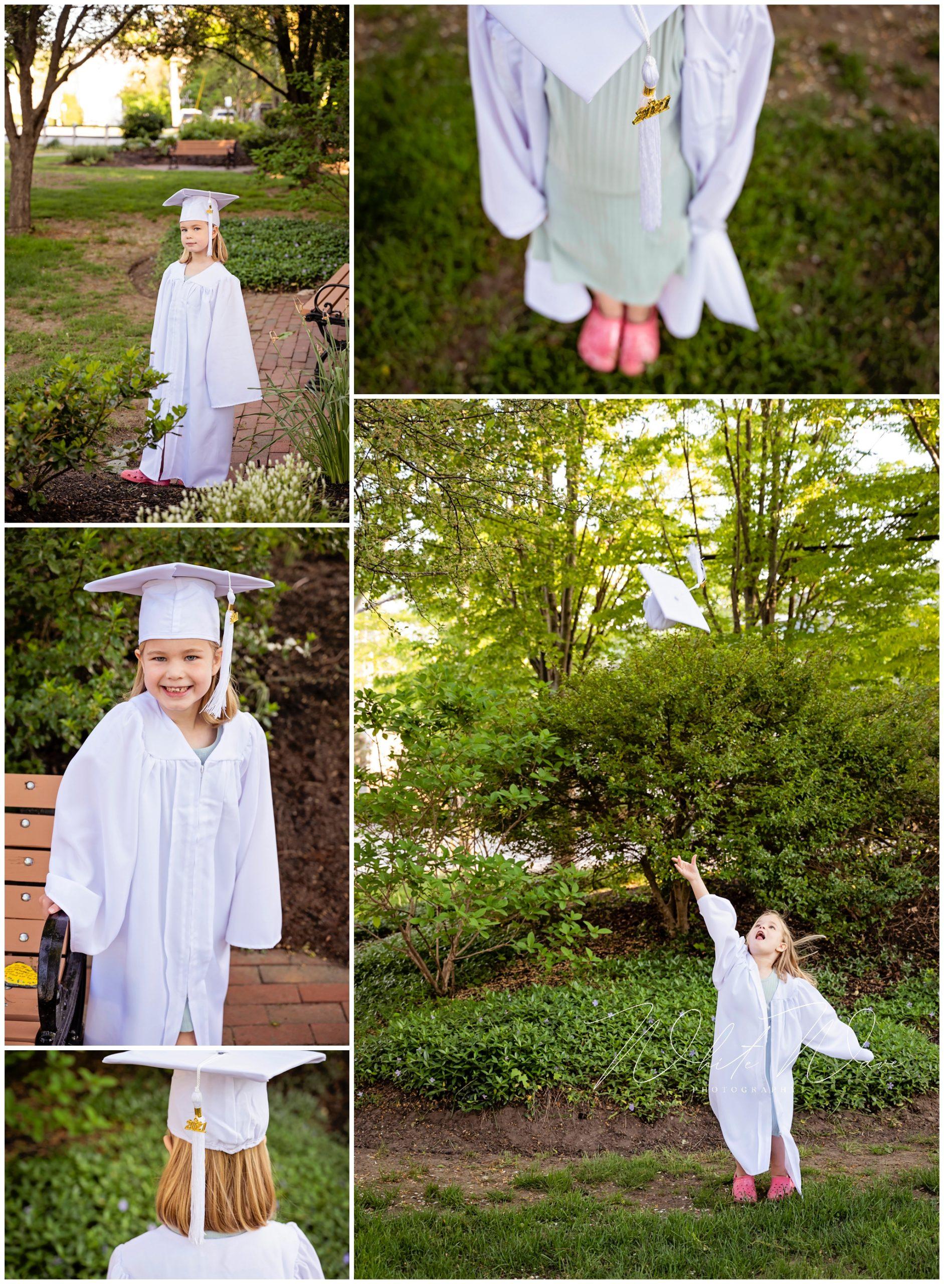Pre-school & Kindergarten Cap & Gown Photo Sessions in Exeter, New Hampshire